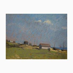 Edward Chappel, Baraques, Pastel, 1910
