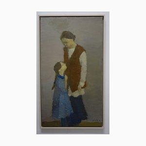 Igor Smekalov, Mother, Daughter & Family, Figurative Oil Painting, 2009