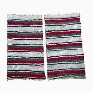 Romanian Wool Fluffy Rugs, Set of 2