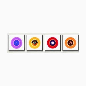 Collection B Side Vinyl, Photo Pop Art Multicolore, 2016, Set de 4