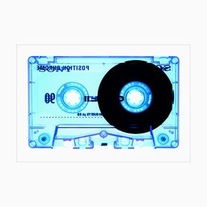 Tape Collection, Chrom Blau, Pop Art Farbfoto, 2021