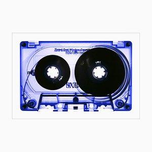 Collection de Rubans, Cassette Teintée Bleue, Photographie Pop Art, 2021