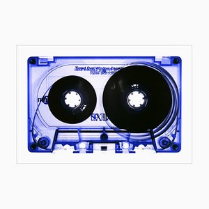 Tape Collection, Blue Tinted Cassette, Pop Art Color Photograph, 2021