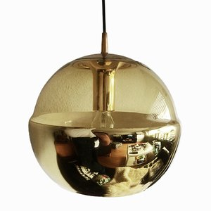 Glass Pendant Mirror Lamp from Peill & Putzler, 1970s