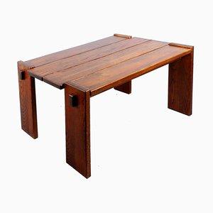 Massiver Esstisch aus Eichenholz im Stile von Charlotte Perriand, 1960er
