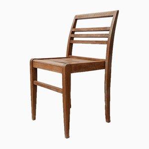 Chaise de Salon Mid-Century en Chêne par René Gabriel