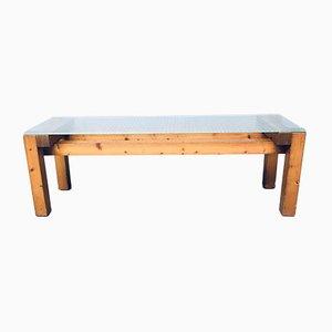 Tavolino postmoderno in pino, anni '60