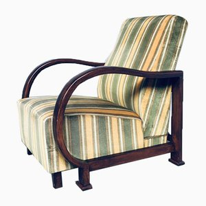 Art Deco Reclining Bentwood Lounge Chairs, 1930s, Set of 2