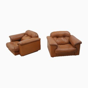 DS 101 Leather Armchairs from De Sede, 1970s, Set of 2
