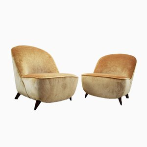 Armchairs Attributed to Guglielmo Ulrich, 1940s, Set of 2