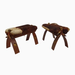 Moroccan Camel Saddle Stools, 1970s, Set of 2