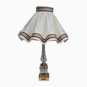Restaurierte Lampe aus geschliffenem Kristallglas, 1940er