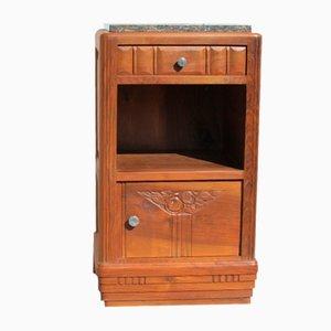 Art Deco Bedside Table or Jam Cupboard in Blond Walnut