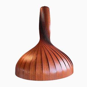 Slat Lamp in Teak Veneer by Hans-Agne Jakobsson for Markaryd, 1960s