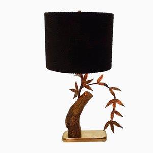 Lampe de Bureau Mid-Century en Laiton Massif Style Willy Daro, 1960s