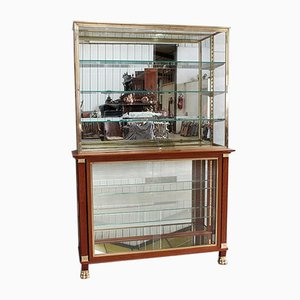 Luxury Store Display Cabinet in Solid Mahogany, 1940s
