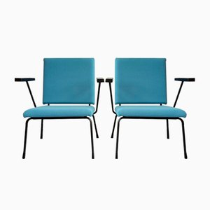 Dutch Model 415 Lounge Chairs by Wim Rietveld for Gispen, 1950s, Set of 2