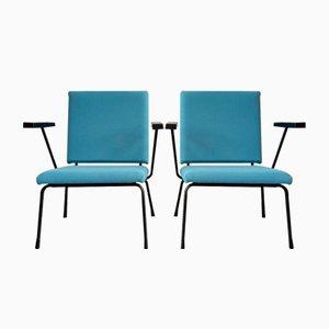 Niederländische Modell 415 Sessel von Wim Rietveld für Gispen, 1950er, 2er Set