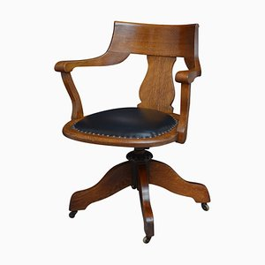 Chaise de Bureau Turn of the Century en Chêne