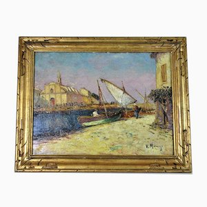 Manago, Church St Genies De Martigues, Late 19th / Early 20th Century, Oil on Canvas