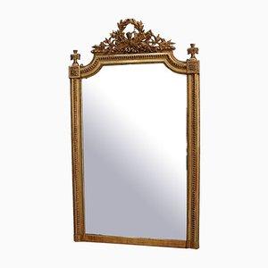 Louis XVI Fireplace Mirror, Late 19th Century