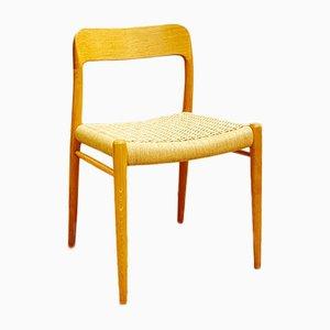 Mid-Century Danish Model 57 Chair in Oak by Niels O Møller for J L Møllers Møbelfabrik, 1950s