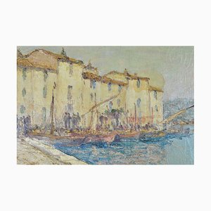 Vincent Manago, Port of Martigues, Late 19th / 20th Century, Oil on Canvas