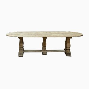 Huge French Bleached Oak Monastery Dining Table