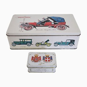Noblesse Oblige Coffee Tins from Eduscho, 1970s, Set of 2