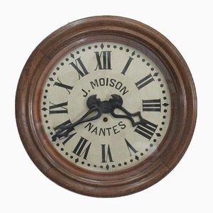Horloge d'Atelier en Chêne par J Moison, Début 19ème Siècle
