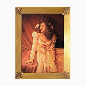 Luigi Aquino, Frauenbildnis, Öl auf Leinwand