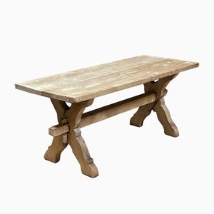 Rustic French Bleached Oak Coffee Table