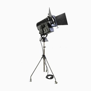 Vintage Film or Photo Spotlight with Flaps on Tripod with Wheels