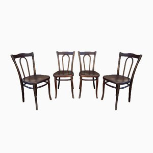 Vintage Bentwood Chairs by Michael Thonet, Set of 4