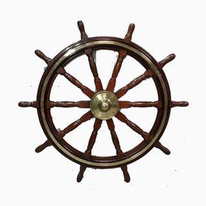 Ship's Steering Wheel in Teak, Early 20th Century