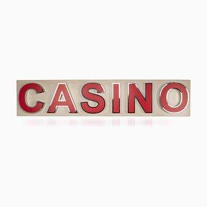 Beleuchtetes Casino Werbeschild, 1970er