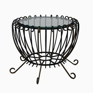 Vintage Wrought Iron Coffee Table