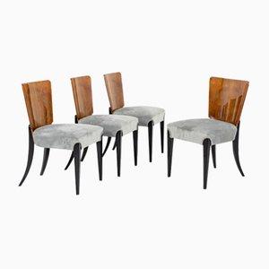 Dining Chairs by Jindřich Halabala, Czechoslovakia, 1930s, Set of 4