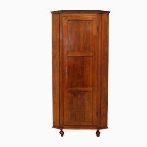 Antique Louis Philippe Corner Cabinet in Walnut, Italy, 19th Century