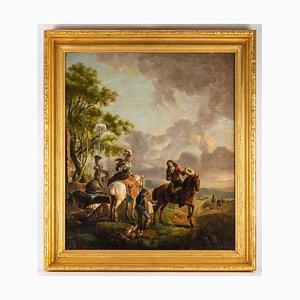 Dopo Karel Van Falens, scuola fiamminga, XIX secolo, olio su tela