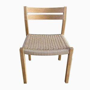 Oak & Danish Paper Cord Model 401 Dining Chair by Niels Otto Møller for J.L. Møllers