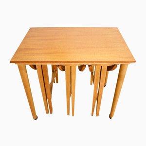 Tables Gigognes Mid-Century en Teck de Poul Hundevad, 1960s, Set de 4