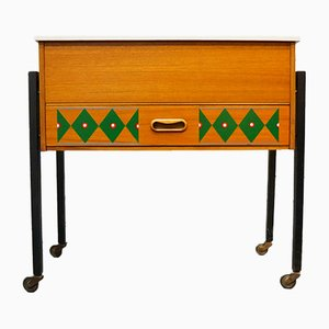 Teak Painted Cabinet, Late 1960s