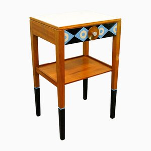 Vintage Side Table with Drawer & Telephone Shelf, 1960s