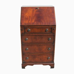 English Style Bureau or Chest of Drawers with Desk in Mahogany