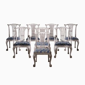 Swedish Dining Chairs & 2 Armchairs, Set of 8