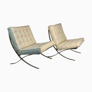 Mid-Century Barcelona Sessel von Mies Van Der Rohe, 2er Set