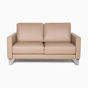 Brown Leather 2-Seater Ego Sofa from Rolf Benz