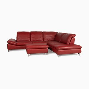 Enjoy Red Leather Sofa from Willi Schillig