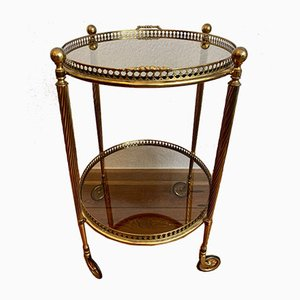 Neoclassical French Brass Bar Wagon